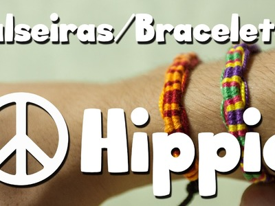 DIY: Como fazer pulseiras.braceletes Hippie (Macramê)
