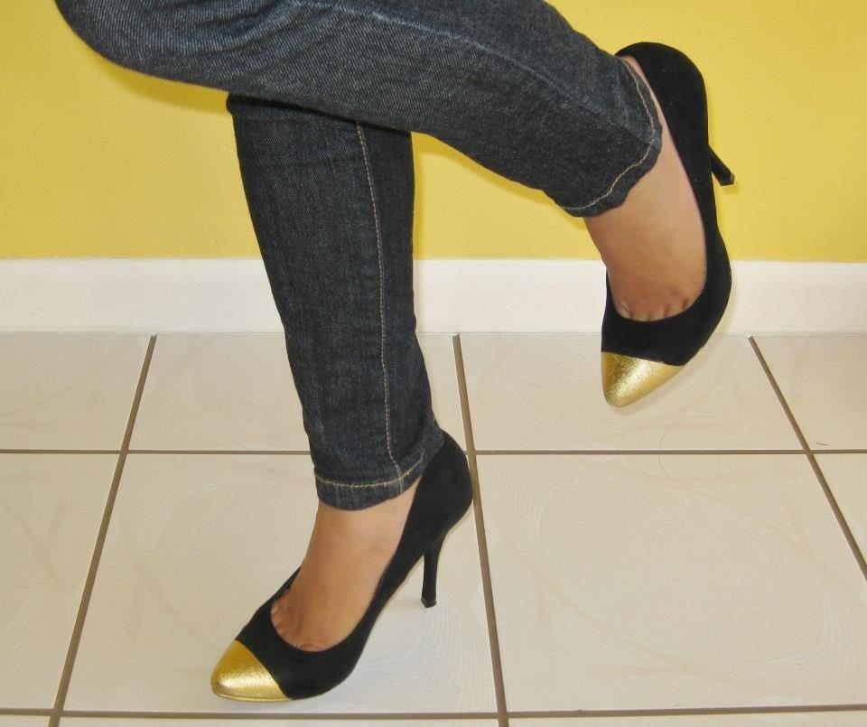 """Faça você mesma um lindo sapato """"Cap Toe"""" by Customização & Cia"""