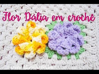 Flor Dalia em croche - Passo a Passo