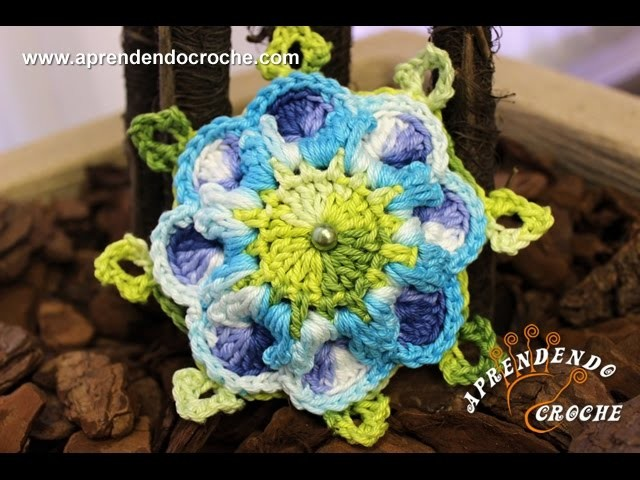 Flor de Crochê Provençal - Aprendendo Crochê