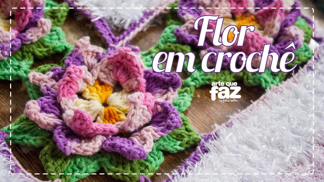 Flor em crochê (Maria José)