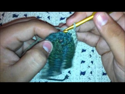 Folha com nervuras em crochê por leocroche.blogspot.com