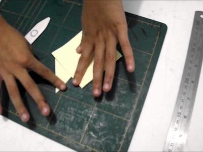 Marcador de página de origami - gatinho