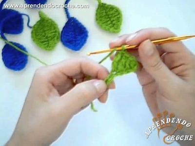 Motivo Folha em Croche - Aprendendo Crochê