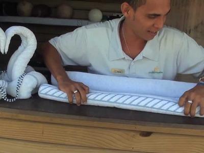 O Hóspede do Sauípe - Escultura em toalha