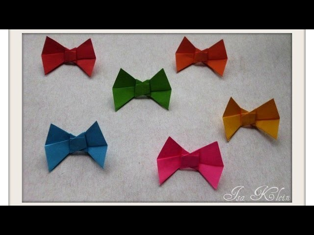 Origami Laço - Bow
