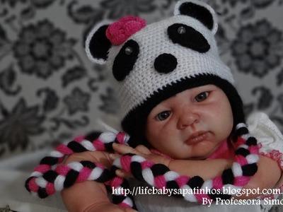 Passo a passo Touca Ursinho Panda Parte-3
