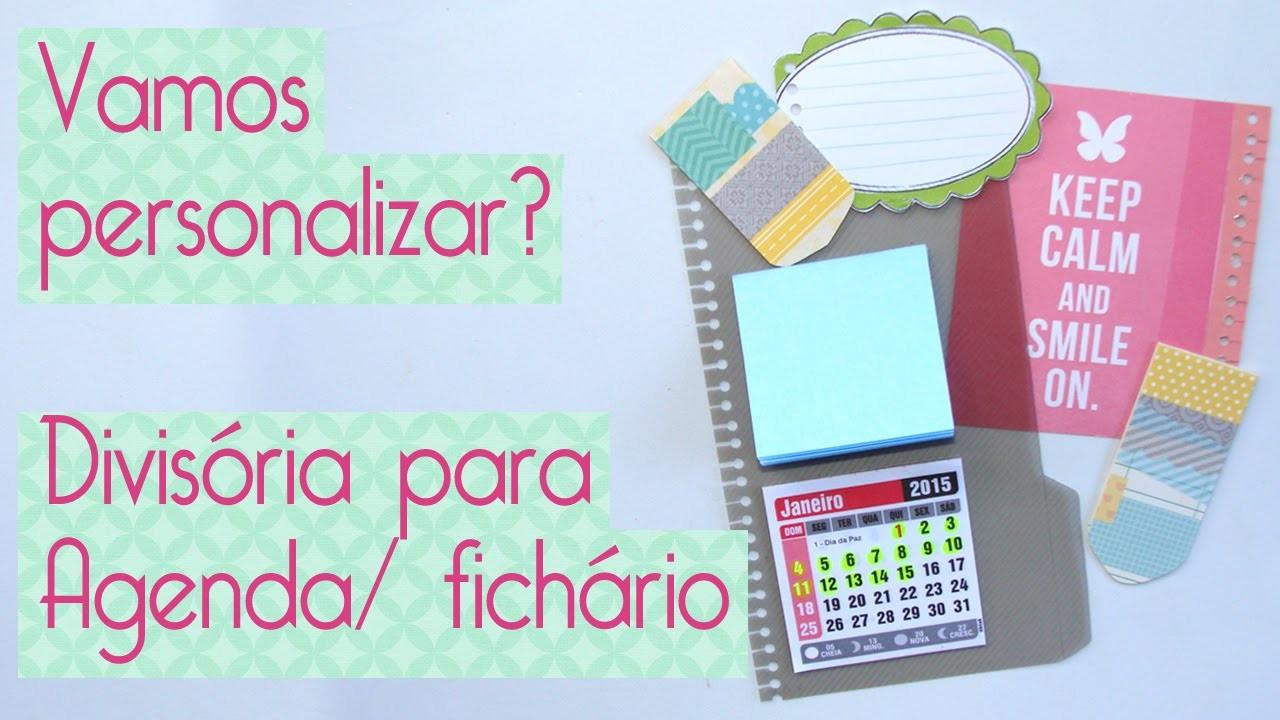 Personalização: Divisória de Agenda Scrapbook by Tamy