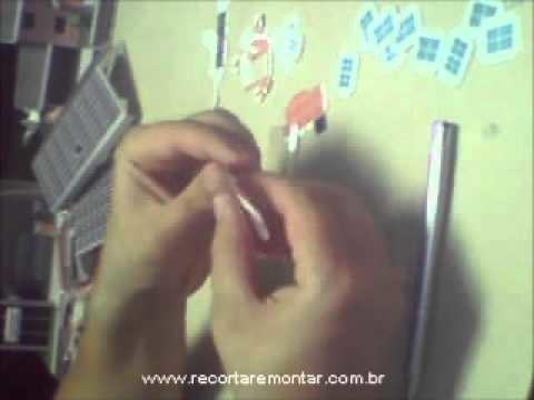 Recortar e Montar Papercraft - Miniatura HS002 - Video 2 - Dobrando.wmv
