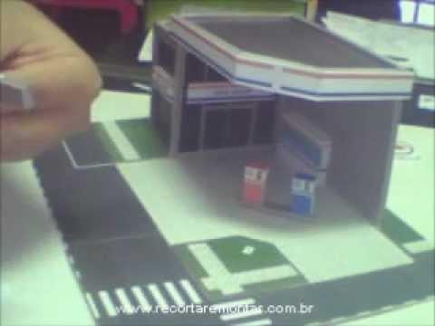 Recortar e Montar Papercraft - Miniatura GS001 - Video 4 - Montando a base.wmv