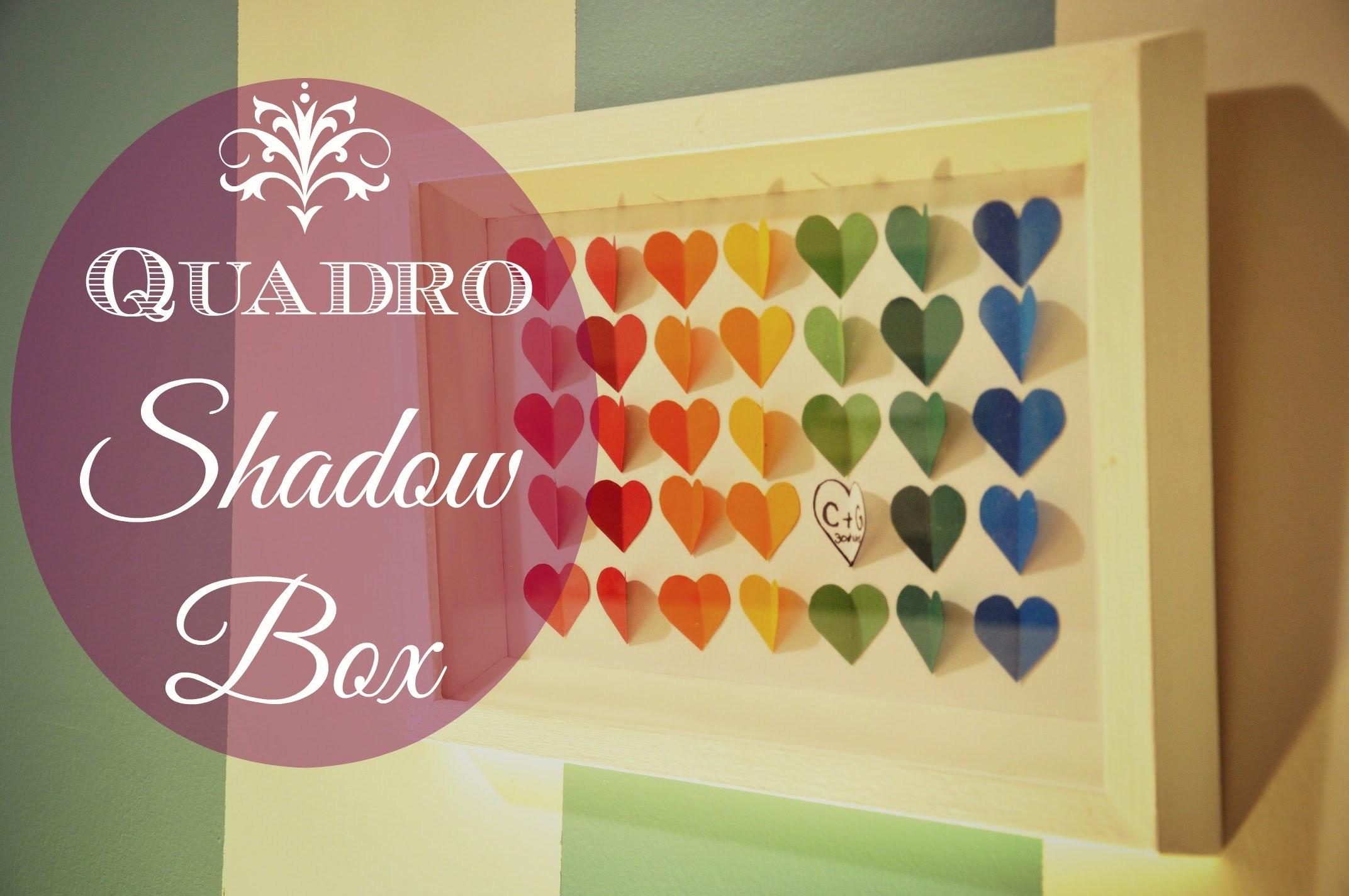 Shadow Box quadro (frame) D.I.Y. | Fazendo Arte 12 | #POCFazendoArte