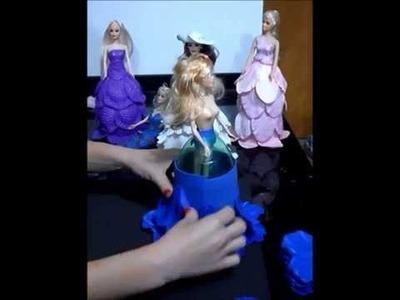 Video Aula-Boneca Vestido EVA (Papoula Portuguesa)-Parte 2