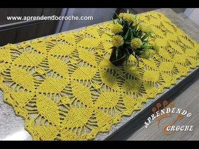 Caminho de Mesa Crochê Orquídea - Aprendendo Croche