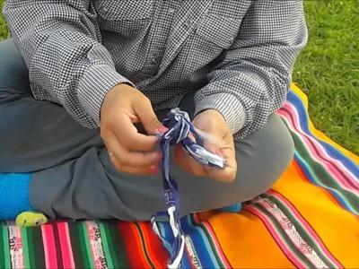 Crochê de plástico( Corte das sacolas)