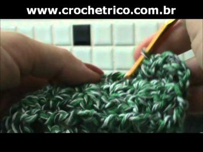 Crochê - Tapete Verde em Barbante - 02.02