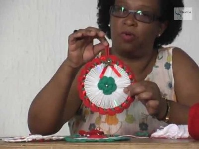 "Crochê Arte - Denise Barbosa "" Enfeite Natalino "" Mostra de Artesanato Paulista"