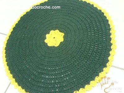 Tapete de Croche Redondo Sweet Home em Barbante - 1º Parte