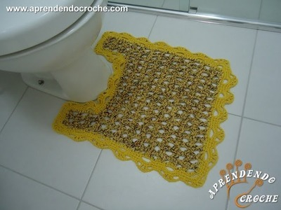 Tapete Vaso - Jogo de Banheiro Crochê Firenze