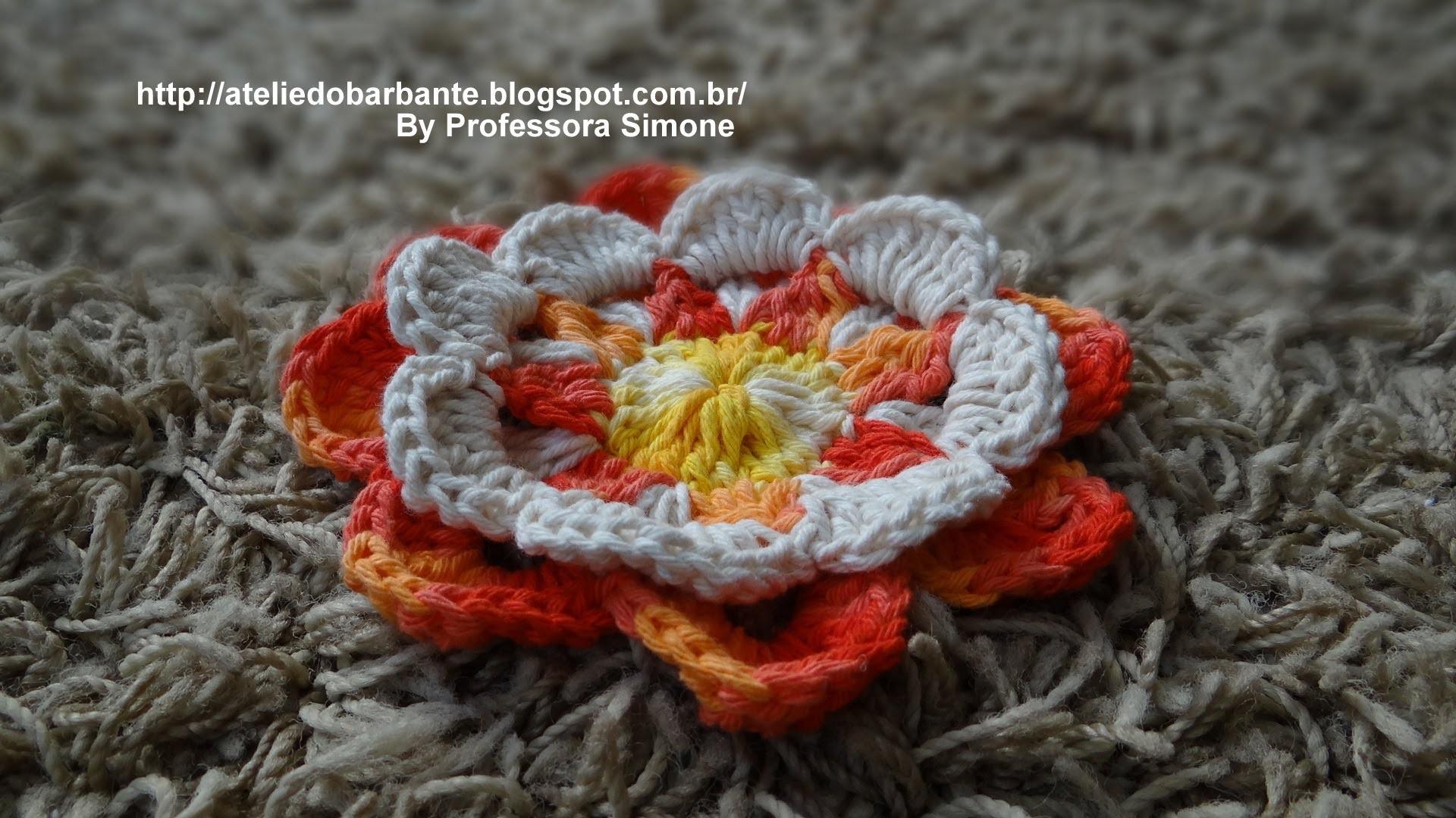 Flor Raio de Sol em Crochê Parte-2