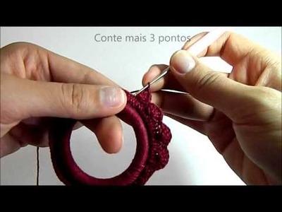 Pano-Chique | D.I.Y. Especial de Natal | Moldura de crochê para enfeitar sua Árvore de Natal