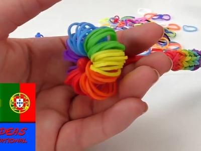 Como fazer enfeite para lápis, canetas e afins com elásticos Rainbow Loom