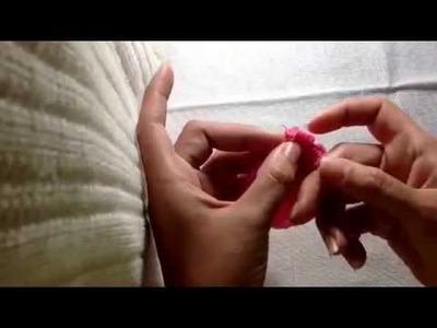Como fazer faixa de meia de seda para bebe!!! Super fácil!
