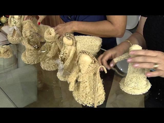 Aprenda a fazer um presépio em bucha vegetal!