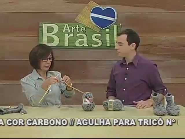 ARTE BRASIL - CLAUDIA MARIA - SAPATO DE QUARTO EM TRICÔ (19.08.2011)