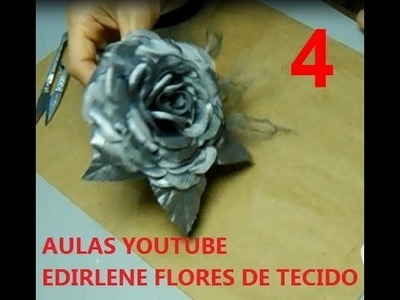 AULA 4: MOLDE DETALHADO DA ROSA DE TECIDO PARA ROUPAS E CABELOS
