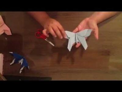 Borboleta de origami passo a passo narrado