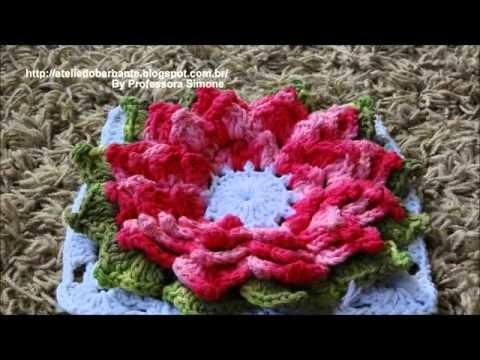 Coleção de Flores em Crochê criadas pela Professora Simone