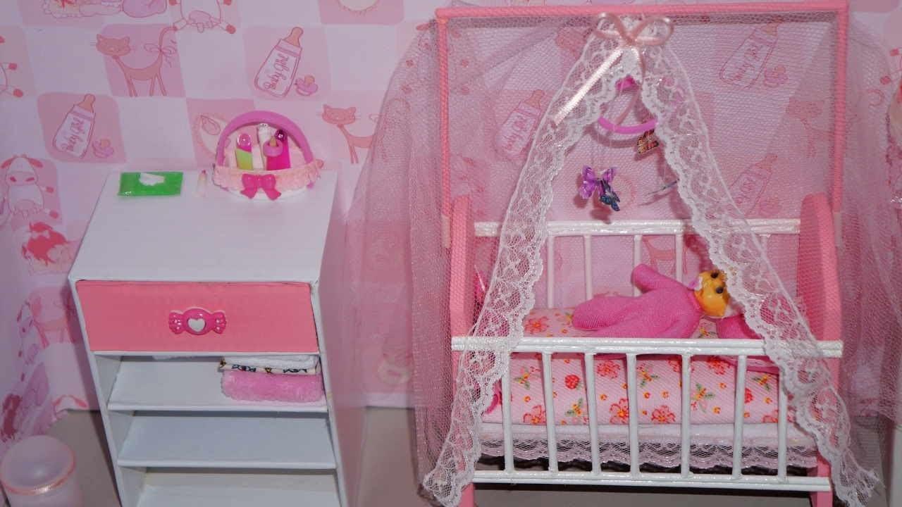 Como fazer um berço (parte 2) para boneca Monster High, Barbie, etc