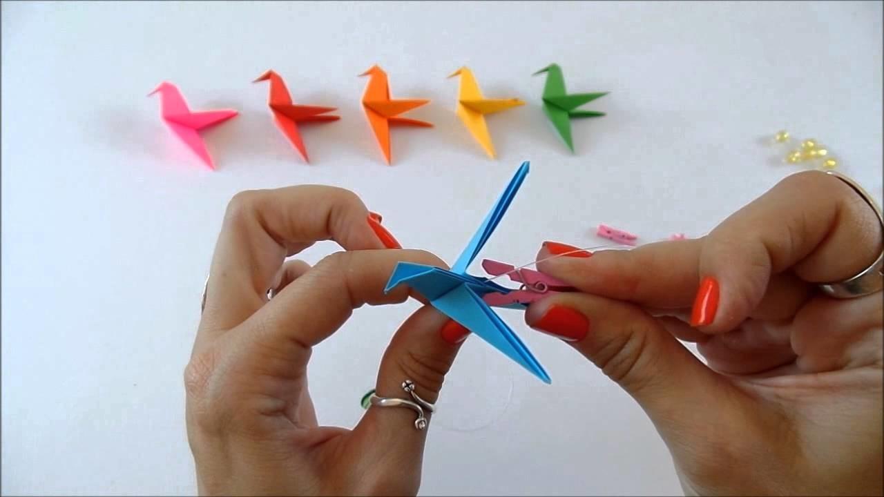 Como fazer um móbile de origami