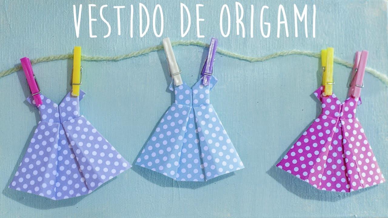 Como fazer vestido de origami - How to make an origami dress