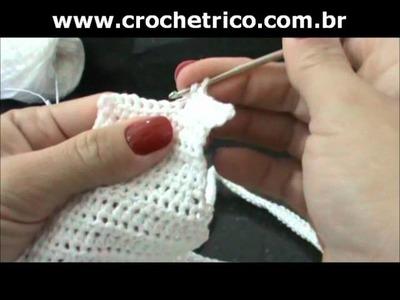 Crochet - Calcinha Branca - Parte 04.08