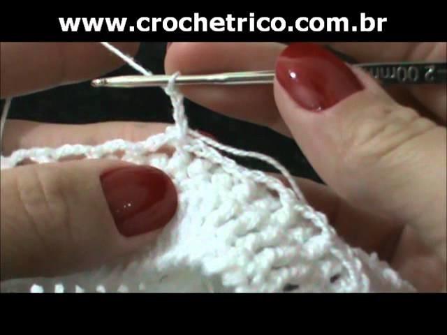 Crochet - Calcinha Branca - Parte 07.08