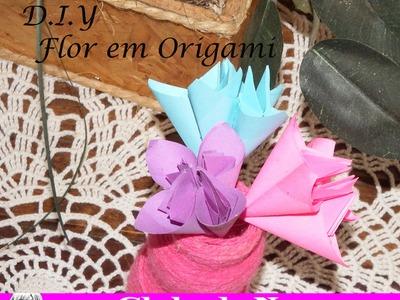 D I Y – Flor em Origami por: Clube Da Nuna