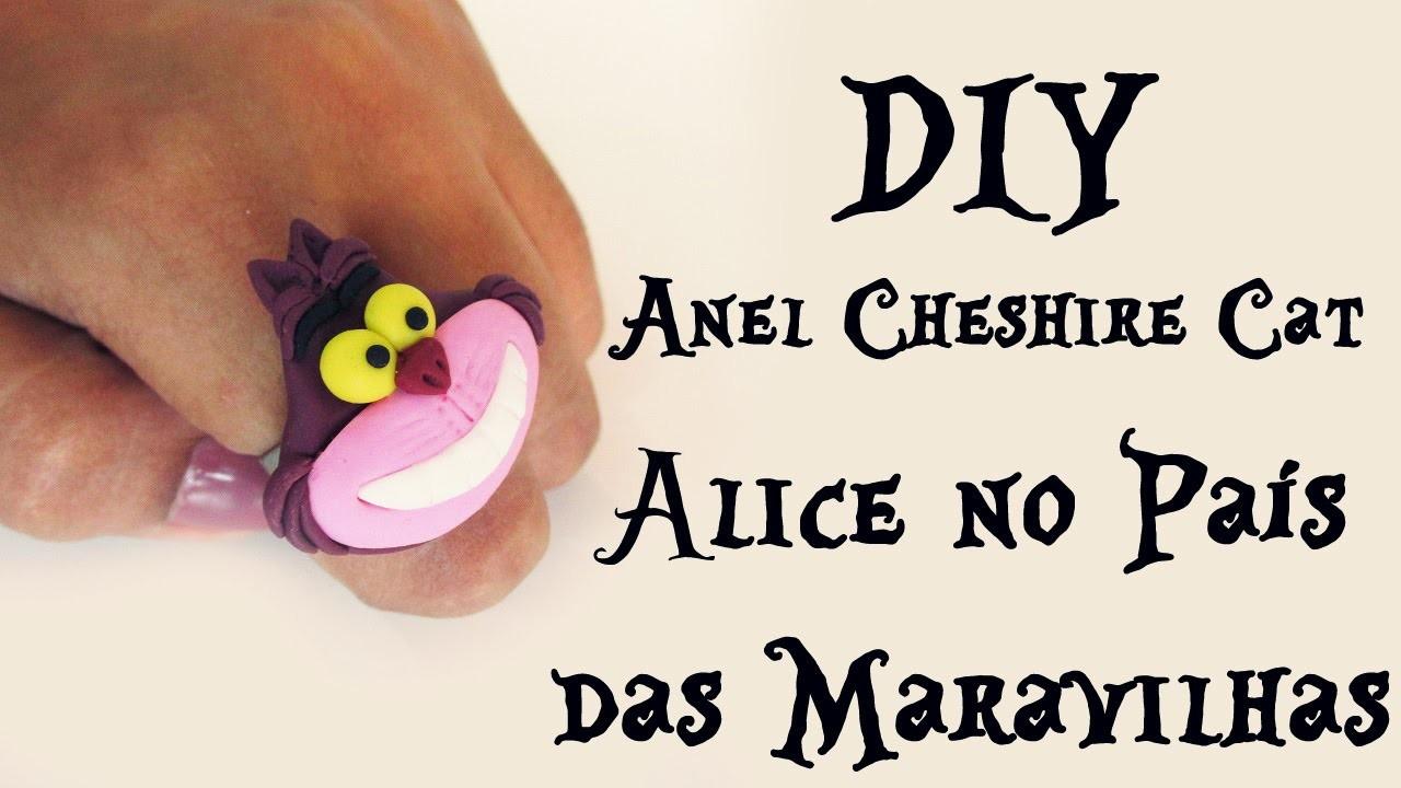 ♠ DIY: ANEL CHESHIRE CAT (ALICE no PAÍS das MARAVILHAS - RING ALICE IN WONDERLAND) ♠