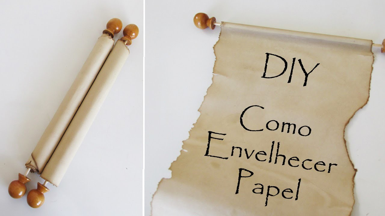 DIY: Como Fazer Papel Envelhecido (Pergaminhos e Rótulos de Bottle Charms - Medieval Scroll)
