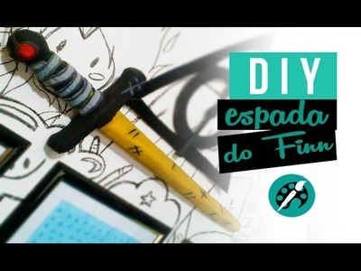 DIY ESPADA DO FINN ❤ sword gold adventure time tutorial- GEEK TUTORIAIS