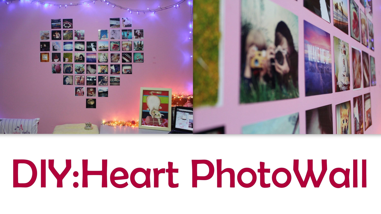 DIY : Heart PhotoWall |by Amanda Peddinghaus