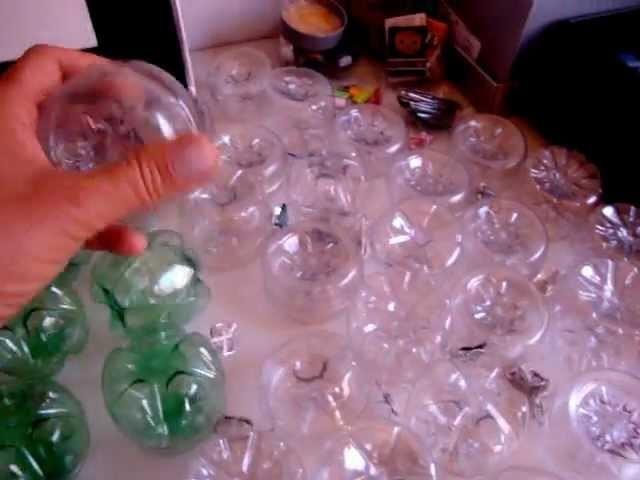 Enfeites natalinos-bola de garrafa pet-Oficina Raio de Sol- sustentabilidade