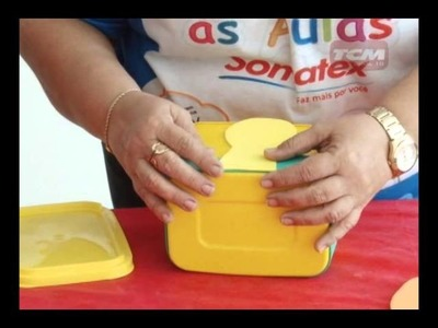 Eu Faço Arte ensina a fazer caixa decorada com pote de sorvete