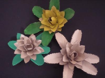 Flor de Abacaxi com Rolo de Papel Higiênico