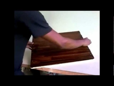 Imitação de madeira com betume