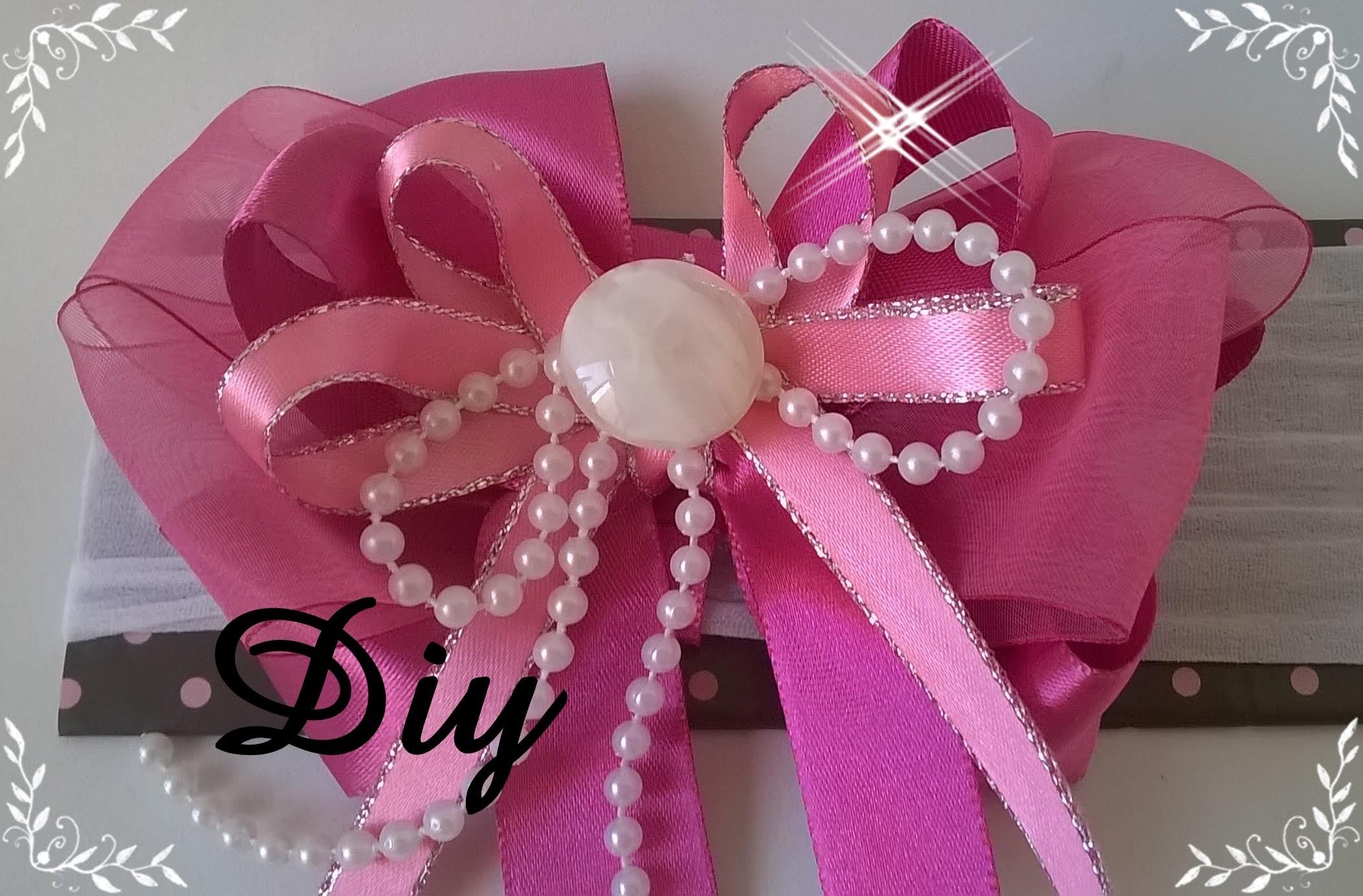 Laço de fita de cetim DIY \ Lace satin ribbon  DIY