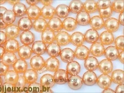 Meia perola 100 % ABS  Shine Beads® Video Catalogo