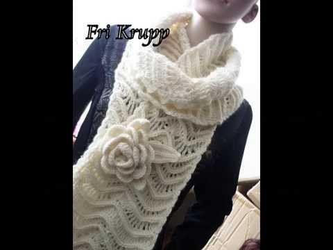 """Meu cachecol de croche """"Mystere"""", Häkelschal, crochet scarf"""