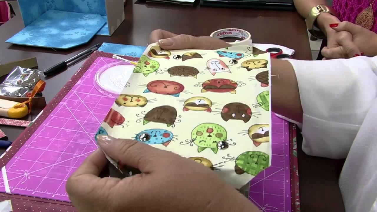 Mulher.com 09.10.2014 Monica Quirino - Cestinha de natal cartonagem Parte 2.2
