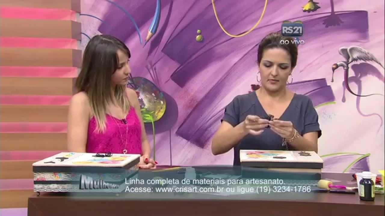 Mulher.com 13.10.2014 Marisa Magalhães - Caixa com scrapdecor Parte 2.2